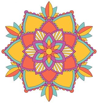Diseño de patrón de mandala en muchos colores.
