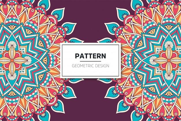 Diseño de patrón de mandala ornamental de lujo