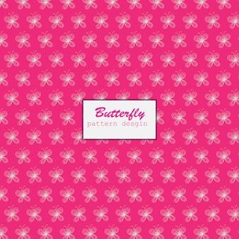 Diseño de patrón de mariposas