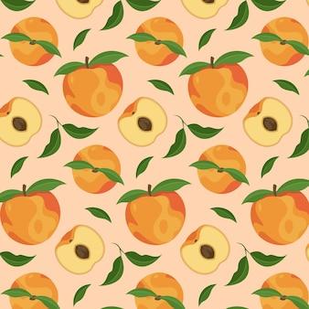 Diseño de patrón de melocotón