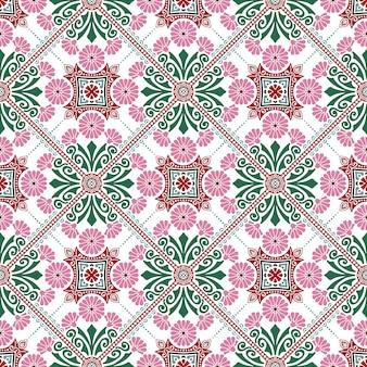 Diseño de patrón de mosaico decorativo. ilustración vectorial