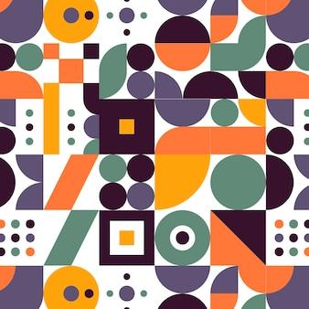 Diseño de patrón de mosaico plano