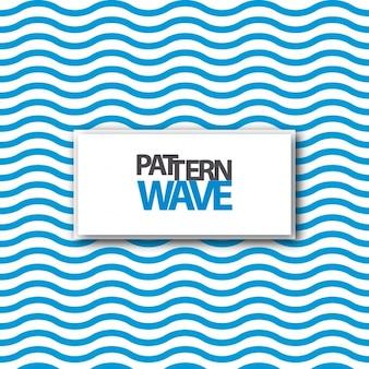 Diseño de patrón de ondas azules