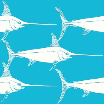 Diseño de patrón de pez espada