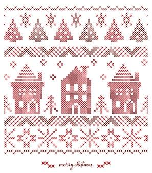 Diseño de patrón de punto de navidad
