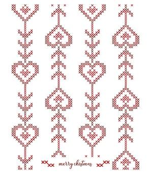 Diseño de patrón de punto navideño