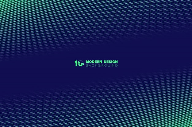 Diseño de patrón de puntos de semitono verde abstracto de fondo de plantilla de tecnología.