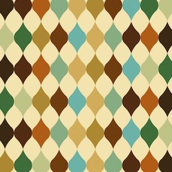 Diseño del patrón sobre fondo abstracto ilustración vectorial
