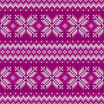 Diseño de patrón de suéter de punto tradicional de fair isle