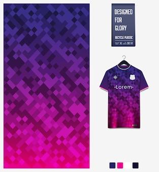 Diseño de patrón de tela. patrón geométrico para camiseta de fútbol, kit de fútbol o uniforme deportivo.