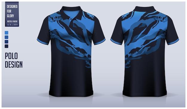 Diseño de patrón de tela de polo patrón abstracto