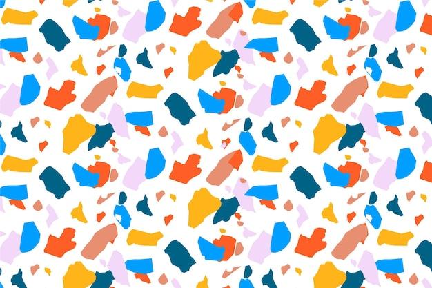 Diseño de patrón de terrazo colorido
