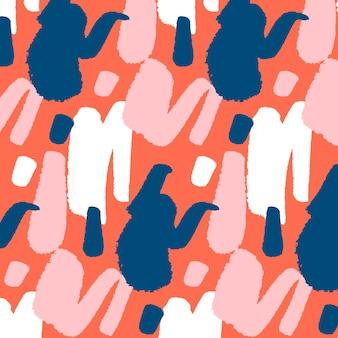 Diseño de patrón de trazo de pincel abstracto