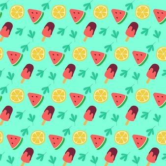 Diseño de patrón de verano plano