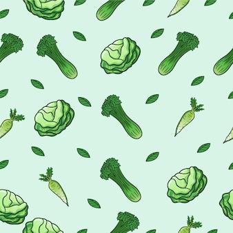 Diseño de patrón de verduras