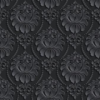 Diseño de patrón vintage negro