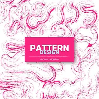 Diseño de patrones creativos rosados
