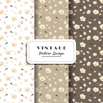 Diseño de patrones digitales sin costura vintage