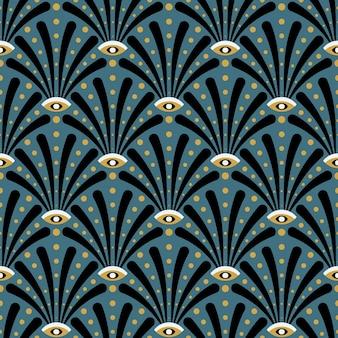 Diseño de patrones sin fisuras art deco