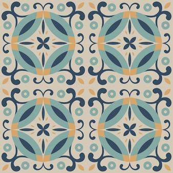 Diseño de patrones sin fisuras de azulejos. con motivos de colores de fondo.