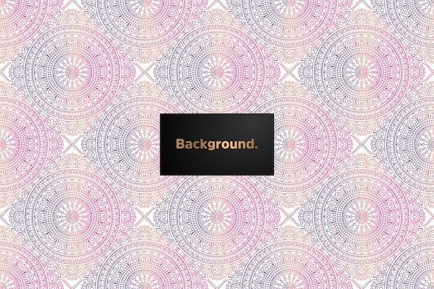 Diseño de patrones sin fisuras degradado mandala
