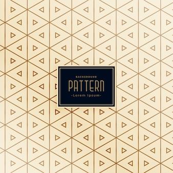 Diseño de patrones sin fisuras de estilo de forma de triángulo creativo