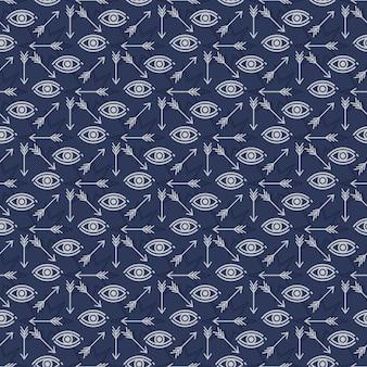 Diseño de patrones sin fisuras con estrellas ojos y flechas