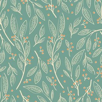 Diseño de patrones sin fisuras con flores dibujadas a mano y elementos florales
