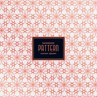 Diseño de patrones sin fisuras de flores de estilo indio decorativo