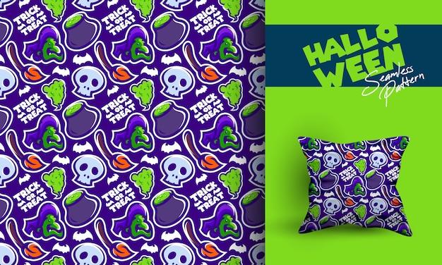 Diseño de patrones sin fisuras de halloween