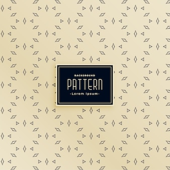 Diseño de patrones sin fisuras de línea decorativa de forma de diamante