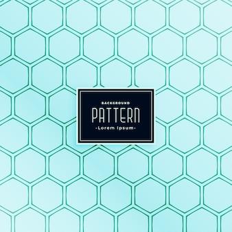Diseño de patrones sin fisuras de línea de estilo de forma hexagonal