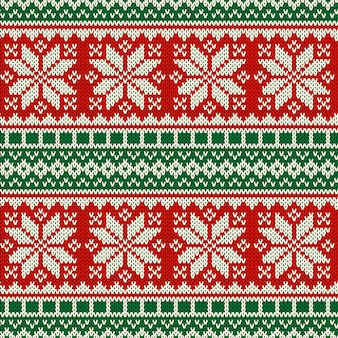 Diseño de patrones sin fisuras de suéter de punto de vacaciones.