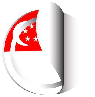 Diseño de pegatinas para la bandera de singapur.