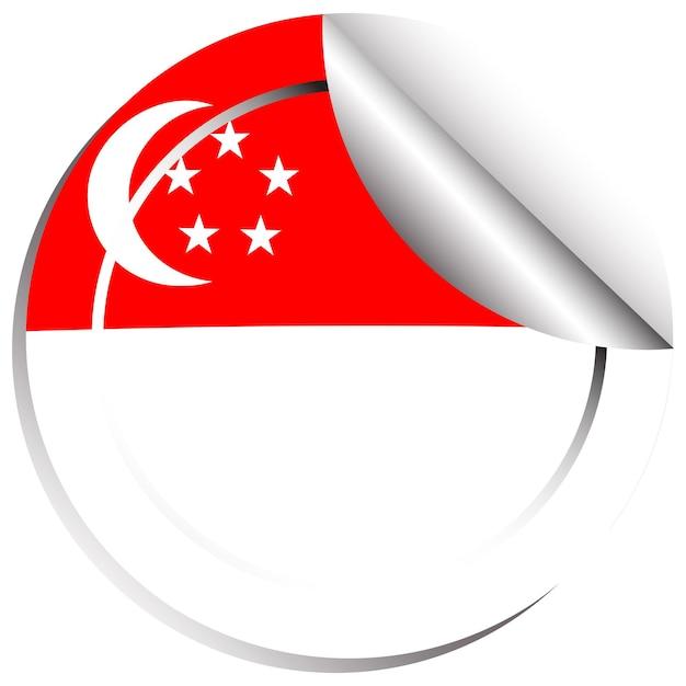 Diseño de pegatinas para singapur