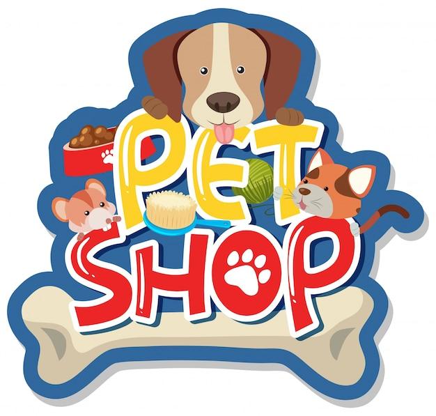 Diseño de pegatinas para tienda de mascotas