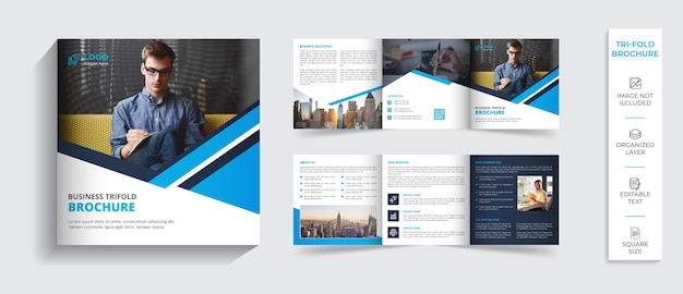 Diseño de perfil de empresa de folleto plegable profesional moderno corporativo