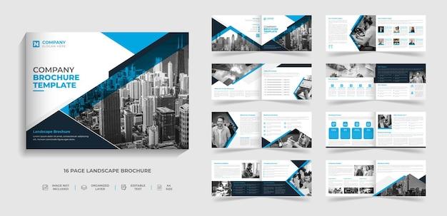 Diseño de perfil de empresa de informe anual de plantilla de folleto de paisaje corporativo de varias páginas creativo moderno