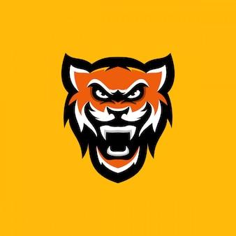 Diseño de personaje de cabeza de tigre