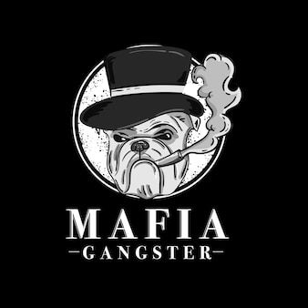 Diseño de personaje de gángster retro