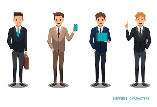 Diseño de personaje de hombre de negocios no3