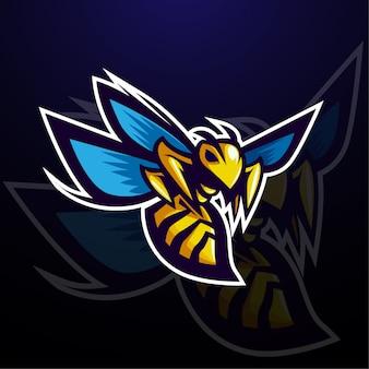 Diseño de personaje de mascota de abeja