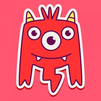 Diseño de personaje de monstruo lindo