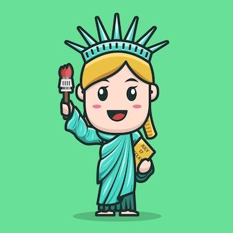 Diseño de personajes de la estatua de la libertad