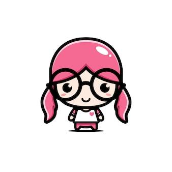 Diseño de personajes linda chica