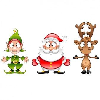 Diseño de personajes de navidad