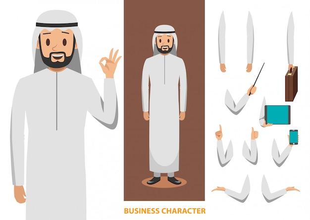 Diseño de personajes de negocios árabes 2