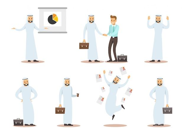 Diseño de personajes de negocios árabes 9