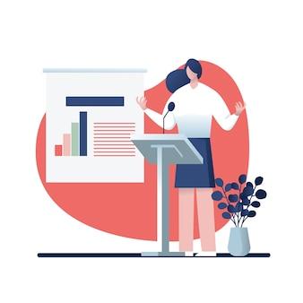 Diseño de personajes de negocios, negocios online.