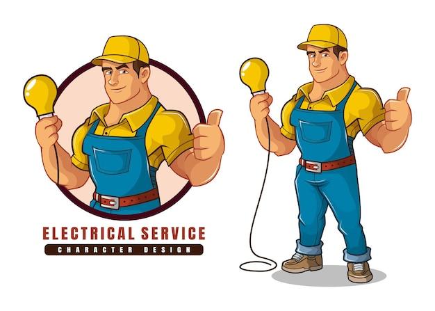 Diseño de personajes de servicio eléctrico